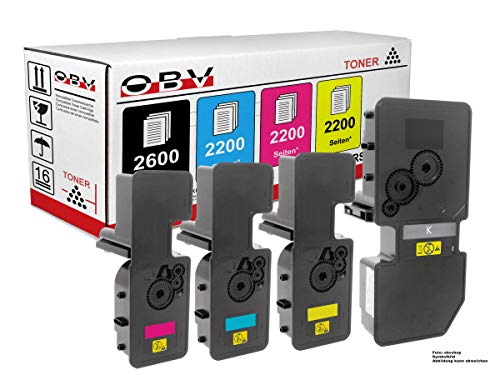 OBV 4X kompatibler Toner im Sparset ersetzt Kyocera TK-5230 K/C/M/Y für ECOSYS M5521 M5521cdn M5521cdw P5021 P5021cdn P5021cdw