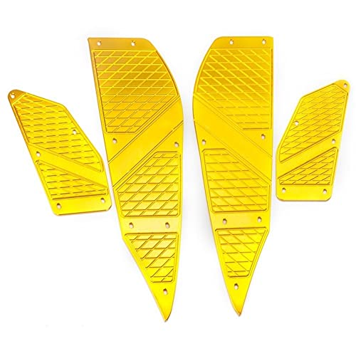 Moto Poggiapiedi Accessori in Lega Moto Pedane per YAMAH-A per XM&AX 125/300/400 per Techmax 2020 Poggiapiedi Pedale Passo Pedana pedana Pedale (Color : E)