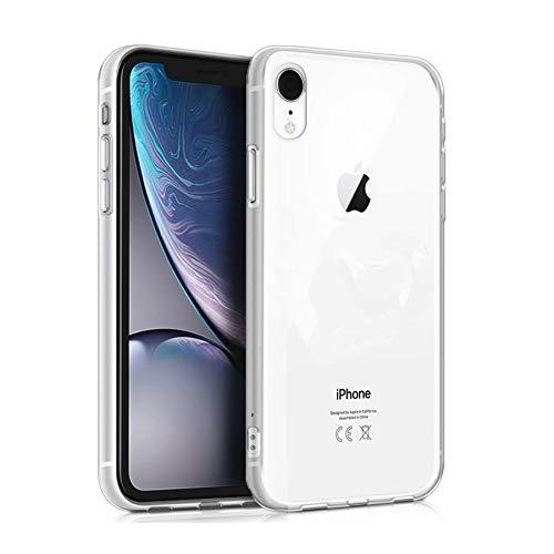 Wephone Accesorios Funda de Silicona y Cristal Templado para Apple iPhone XR...