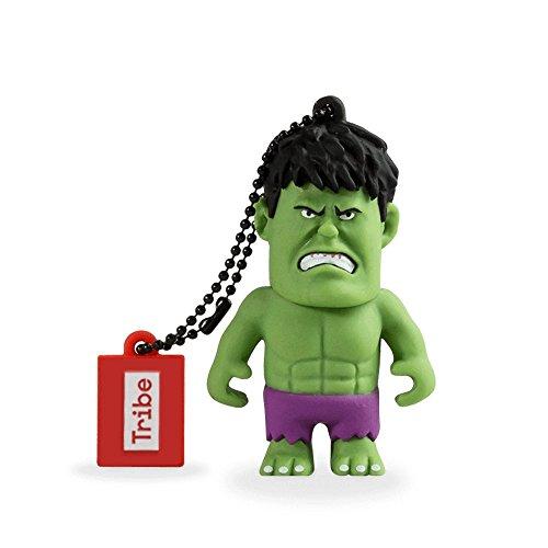 Llave USB 8 GB Hulk - Memoria Flash Drive 2.0 Original Marvel Avengers, Tribe FD016402