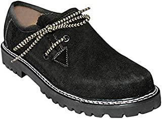 Gentry Choice Oktoberfest Outfit Traditional Men Bavarian Leather Shoes Black