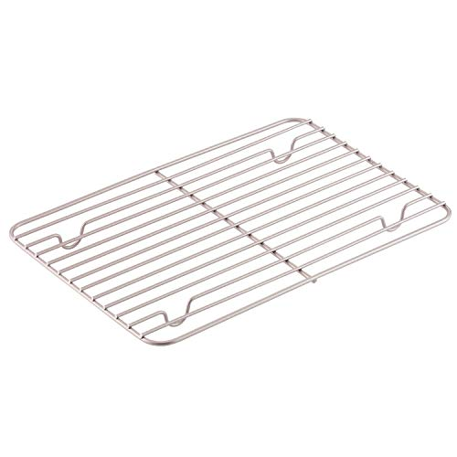 CHEFMADE Baking and Cooling Rack, 12.2-Inch Non-Stick Rectangle Wire Rack for Oven Baking (Champagne Gold)