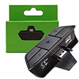 Stereo Headset Adapter for Xbox One,Game Audio Mic Headphone Converter – Black