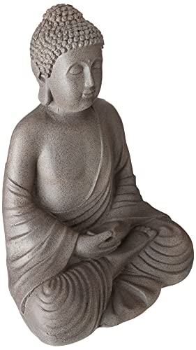 KINDWER Buddha Statue, 20', Gray