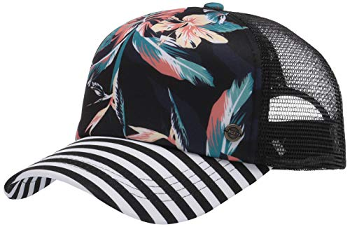 Roxy Junior's Beautiful Morning Trucker Hat, Anthracite Tropical, One Size