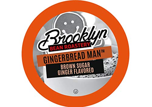 Brooklyn Beans Gingerbread Man Coffee Pods, Compatible with 2.0 K-Cup Brewers, 40 Count