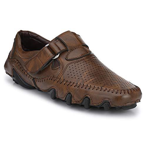 Big Fox Men's Perforated Roman Sandals, Brown 9 UK