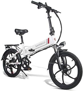 Bicicleta Eléctrica de Montaña Plegable 20 Pulgadas, Motor 350W Batería de Litio 48V 10.4AH Shimano 7 Velocidades Soporte ...