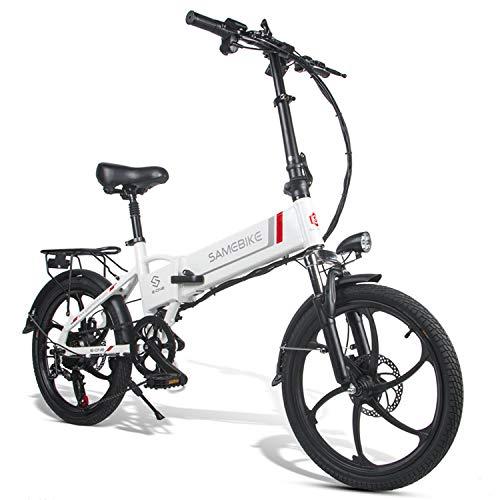 Bicicleta Eléctrica de Montaña Plegable 20 Pulgadas, Motor 350W Batería de Litio...