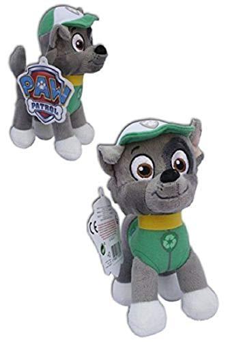 Peluche compatible con la Patrulla Canina, 1 peluche para niños de 19 cm, serie de televisión   peluche   regalo para niños   niñas   niño   Rocky