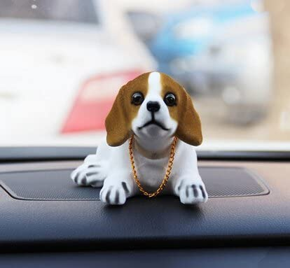 ATMOMO Shaking Head Lucky Dog Bobbing Heads Car Dash Puppy for Car Vehicle Decoration Beagle product image