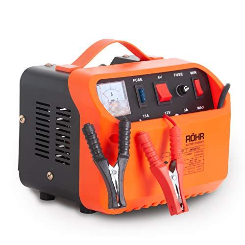 Röhr DFC-10P - Cargador Batería de Coche con 2 Modos Turbo y Lento - Tecnología reparación y Mantenimiento - 10 A - 6V / 12V