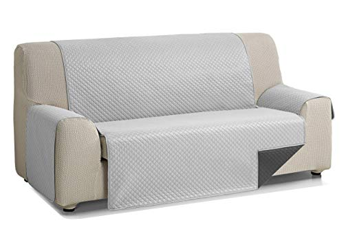 Martina Home Diamond Cubre Sofa Acolchado Reversible, Gris - Antracita, 2 Plazas