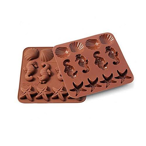 silikomart 22.507.77.0069 Stampi, Silicone, Marrone, 1.2 x 15.5 x 16.3 cm