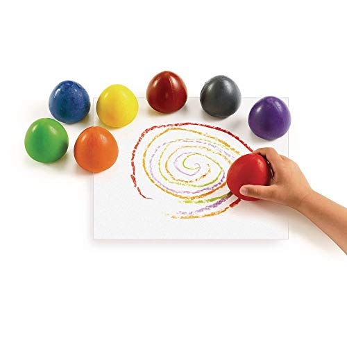 Colorations Chubby Non-Toxic Crayons for Toddlers, Palm Grip Eggs, Set of 8 Colors, Shape is Easy for Young Children Grip, Hold & Draw, Crayons Glide Easily, Non Toxic Crayons, Kids Crayons