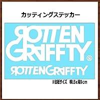 【②白】ROTTENGRAFFTY ロットングラフティ カッティング ステッカー