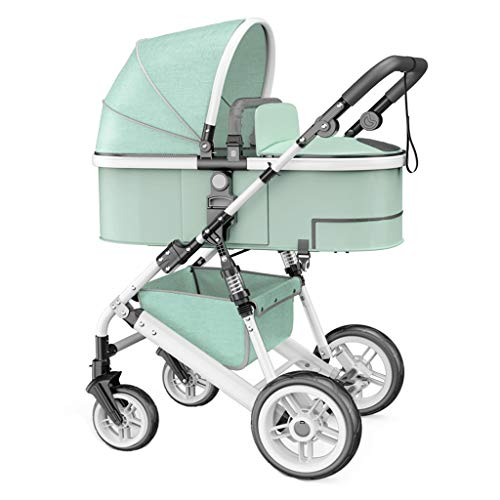Why Choose Strollers High Landscape Stroller Can Sit Two-Way Four-Wheel Shock Absorber Trolley Recli...