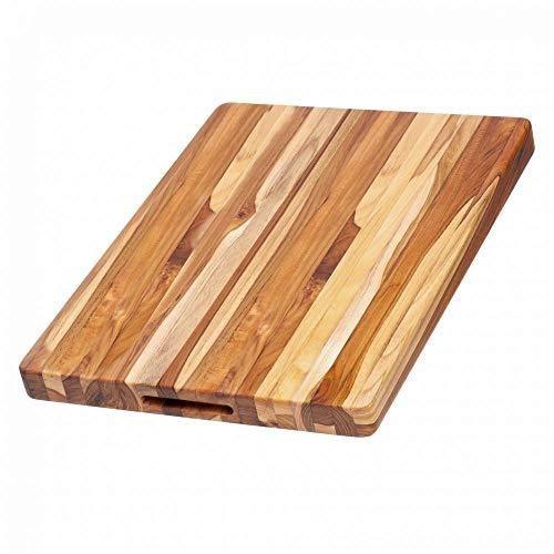 TeakHaus by Proteak Edge Grain Carving Board w/Hand Grip (Rectangle) | 20' x 15' x 1.5'
