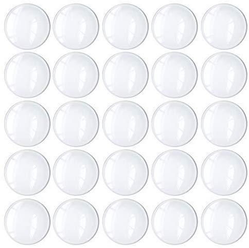 Cabochon glas 25mm voor het maken van sieraden 100 stuks ronde koepel cabochons met platte achterkant glazen koepel tegels duidelijke camee voor hangers magneten en ambachten (100 stuks, 1 inch)