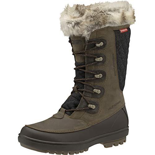 Helly Hansen Womens Garibaldi VL Waterproof Winter Boot, 745 Bushwacker/Coffee Bean/Sperry Gum, 7.5