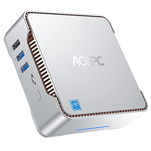 Mini PC 8GB RAM 128GB M.2 SSD, ACEPC GK3V Intel Celeron J4125 Mini Desktop Computer mit Windows 10 Pro, 2X HDMI & VGA Anschluss, Dual Band WiFi,Home Office Small PC | Micro Desktop Business Computer