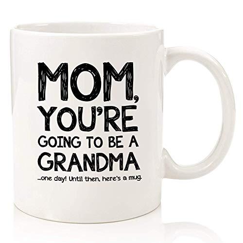 Va a ser una abuela Taza divertida para mamá Los mejores regalos de Navidad Regalo único de Navidad