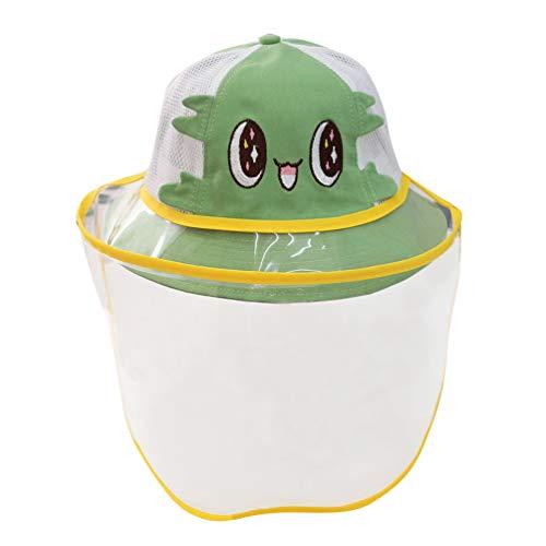 Happy Cherry - Cappello da Sole Protettivo con Visiera Trasparente Integrale per Anti-Saliva Anti-Fog Anti-UV Bambini Bambino Berretto Protezione Facciale Neonato Cappelli da Pescatore - 3-4 Anni