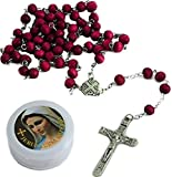 """Women's 22"""" JERUSALEM Red Rose Smell Scented Olive Wooden Rosary Beads Cross Necklace / Wood Crucifix Chain Pendant Prayer Holy Praying Pray Unique Beautiful Long Fashion Jewelry Bracelet Jesus Beaded Christianity altar vestment tabernacle monstrance religious chasuble catholic jesus thurible infant of prague orthodox santos Lot cassock stole censer ciborium cope shrine st michael pyx holy water religious medals stations of the cross sacred heart fatima mary surplice alb missal saint michael triptych lourdes olive wood mitre pocket shrine agnus dei holy family relic document black madonna pope francis sick call paten theca Christianity st anthony medal pieta chalkware bishop pall guadalupe reliquary paraments jude prayerbook praying hands nun doll joan of arc blessed santos crown angel statue st george vintage bible lampada christian jewelry risen christ daprato magdalene milagro Rosery last supper breviary"""