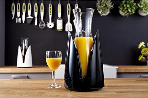 Vacu Vin 3645460 Rapid Carafe rafraîchissante + support plastique Verre Noir 29,5 x 15 x 15 cm