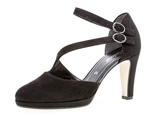 Gabor Damen Riemchen Pumps 21.370.47, Frauen Absatzschuhe,Sandaletten,elegant,fein,schwarz,41 EU / 7.5 UK