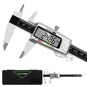 GALAX RPO Calibre Digital,Calibrador Electrónico de Acero Inoxidable 150mm/6 Pulgadas, Gran Pantalla LCD, Micrómetro de Alta Precisión, Exterior, Escalera y Profundidad