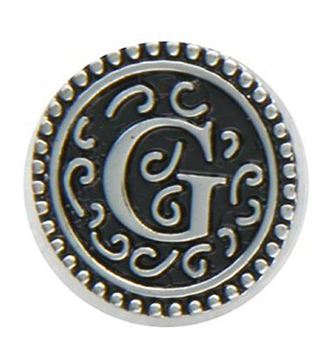 Ganz Jewel La La Snap Button for Jewelry, Initial G (ER33799)