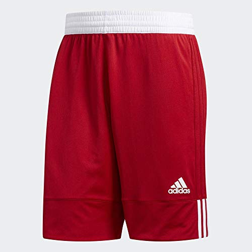 adidas Herren 3G SPEE REV SHR Sport Shorts, Power red/White, M