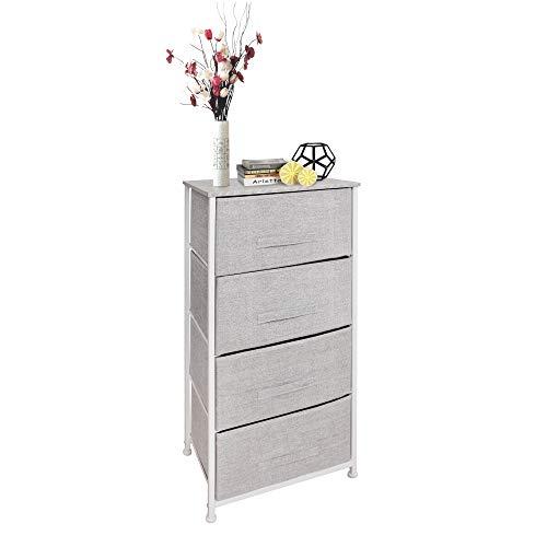 %15 OFF! East Loft Tall 4 Drawer Dresser Storage Organizer for Closet, Nursery, Bathroom, Laundry or...