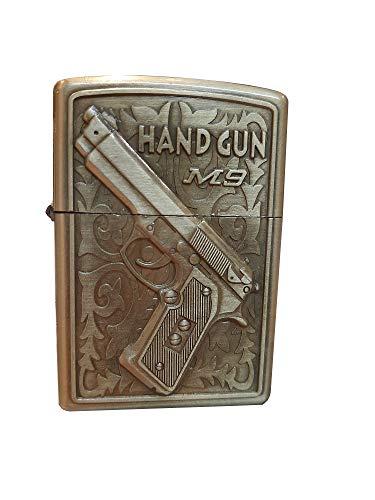 Mechero Zippo Gun de metal resistente al viento, de larga duración, ideal para cigarrillos, velas, encendedores de bolsillo