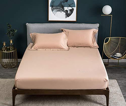 N / A rutschfeste Feste Bettwäsche aus Baumwollsatin, dreiteiliger Matratzenschutz...