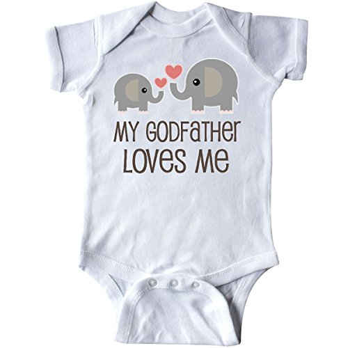 inktastic - My Godfather Loves Me Godson Gift Infant Creeper Newborn White 2f58f
