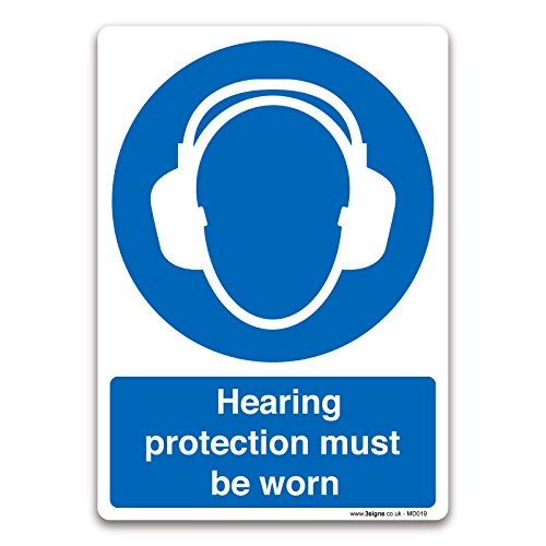 Gehoorbescherming moet worden gedragen A5 148x210mm Zelfklevend Vinyl Verplicht Veiligheidsbord