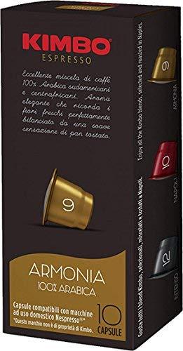4 Boxes of Kimbo Espresso Armonia Nespresso Compatible Capsules