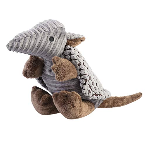 UEETEK Pet Products Plush Toys Dog Chew Toys Pet Cats Cute Biting Sound Squeaky Toys Armadillo Design