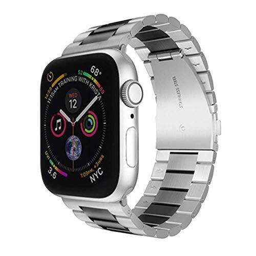 lijing - Correa de repuesto de acero inoxidable para Apple Watch de 38 a 40 mm, 42 mm a 44 mm