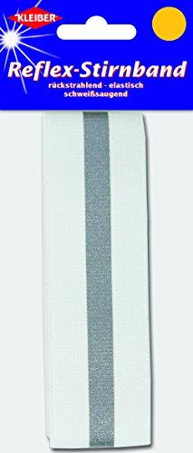 Kleiber reflecterende elastische hoofdband, wit