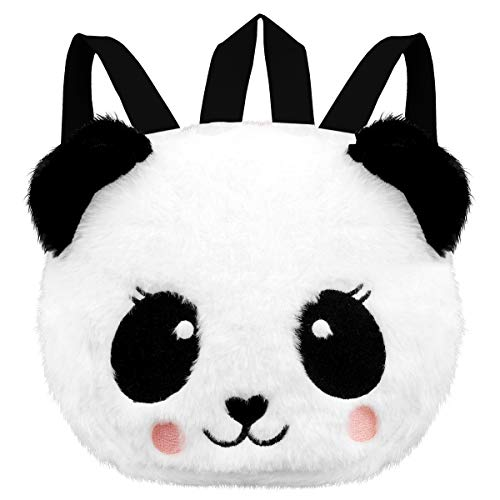 Toddler Backpack Mini Kid Backpack – Panda Preschool Backpack, Plush Animal Backpack for Baby Girl Boy 1-6 years old, Personalized Cute Toy Snack Travel Bag for Kid Gift