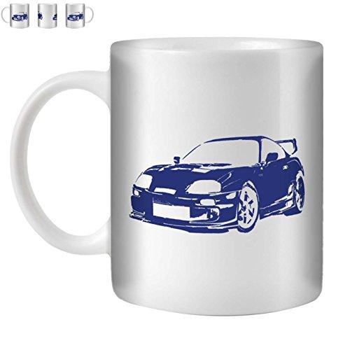 Stuff4 Tee/Kaffee Becher 350ml/Blue/Toyota Supra/Weißkeramik/ST10