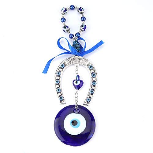 Oumefar Turquía Evil Eye Blue Evil Eye Colgante Amuleto musulmán Colgante de Pared Decoración del Coche del hogar