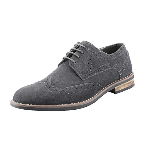 Bruno Marc Men's URBAN-03 Grey Suede Leather Lace Up Oxfords Shoes - 10.5 M US