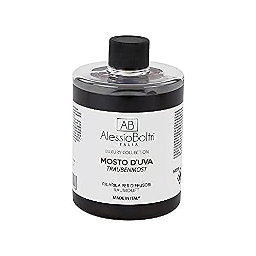 AB Alessio Boltri - Ricarica per diffusori Luxury 500 ml, profumazione Mosto D'uva
