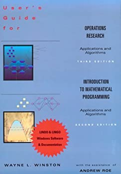 User's Guide to Operations Research / Introduction to Mathematical Programming 0534520219 Book Cover
