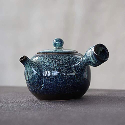 Keramische Kyusu theepotten waterkoker Blauw 280ml