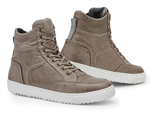Rev'it! GRAND heren motorfiets sneaker leer City - taupe wit maat 44